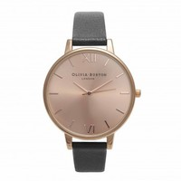 Big Dial Black and Rose Gold – Vintage inspired fashion watches by Olivia Burton