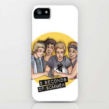 5 seconds of summer iPhone & iPod Case by Laia™ | Society6
