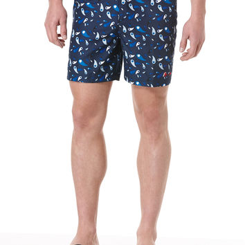 EVER ALL-OVER PRINTED SWIM TRUNK