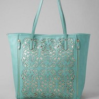 JEMMA PERFORATED TOTE IN MINT