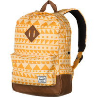 Herschel Supply Heritage Orange Butterscotch Chevron Backpack - Kids' - 519cu in