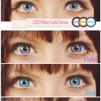 GEO Mari Gold Brown Circle Lens | EyeCandy's