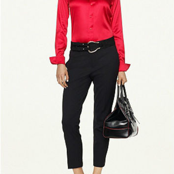 Celine Silk Blouse Rouge