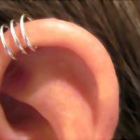No Piercing Sterling Silver Handmade Helix Ear Cuff by ArianrhodWolfchild