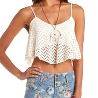 CROCHET FLOUNCE SWING CROP TOP