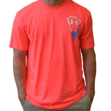 Under Armour Icon Lacrosse Tee - Coral | Lacrosse Unlimited