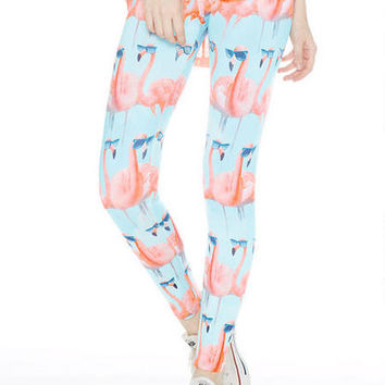 Flamingo Leggings - Multi