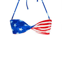 American Flag Twist Bandeau - Multi