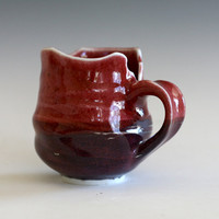 Porcelain Coffee Mug with an Uneven Rim, handmade ceramic cup, coffee cup