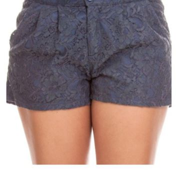 Grey Lace Shorts