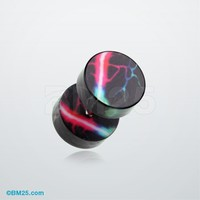 Galaxy Thunder Acrylic Fake Plug Earring