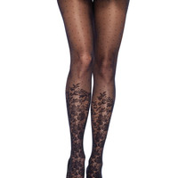 Dots and Flowers Pantyhose