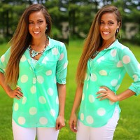 Believe It Or Dot Blouse