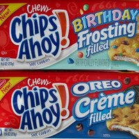 NEW Chips Ahoy Oreo Creme and Birthday Frosting Filled Cookies. 1 9.6oz Pack of Each