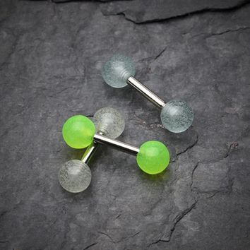 Glow in the Dark Acrylic Tragus Barbell
