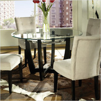 Steve Silver Furniture - MT200 / MT200BE - Matinee 5 Piece Dining Table Set with Beige Parson Chair | CSN Stores