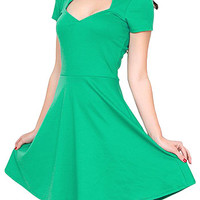Va-Voom Vixen Dress in Jade