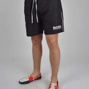Hugo Boss Green Starfish Swim Shorts - Black