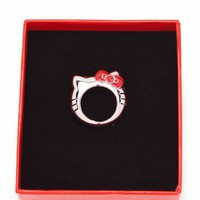 hello kitty head ring