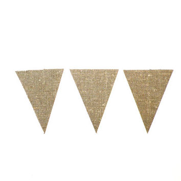 #DIY #burlap #banner #Kit # bunting  #your #own  #blank  #flag  #triangle #geometric #pennant  #garland #christmas #decoration #wedding
