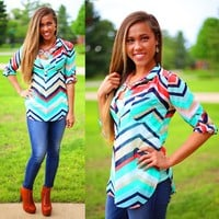 Be Bold Chevron Blouse