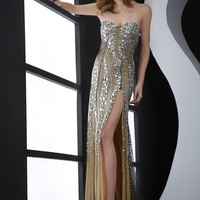 Jasz Couture 4925 Beaded Evening Gown