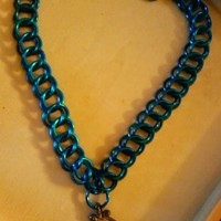 Blue Chainmaille choker/necklace