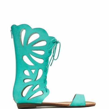 So Butter-fly Faux Leather Sandals