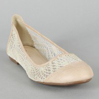 Great-1 Crochet Round Toe Ballet Flat