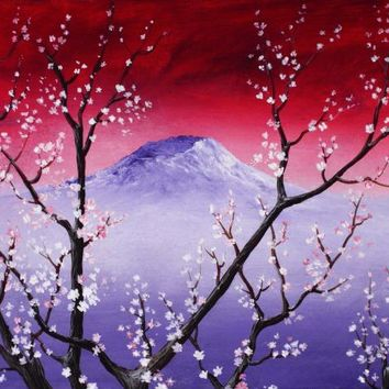 Sakura Painting by Anastasiya Malakhova - Sakura Fine Art Prints and Posters for Sale