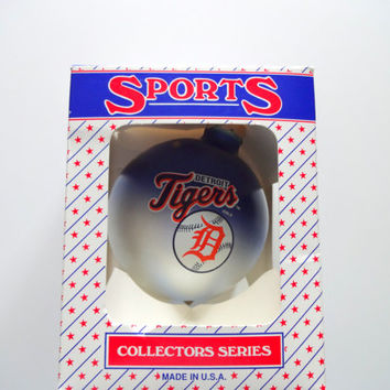 Vintage Detroit Tigers Christmas Ornament 1990