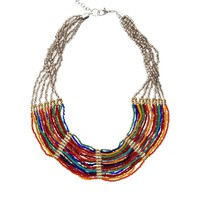 ASOS Multi Row Bead Necklace