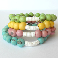 Acai Seed Bracelets / Choose Your Colour