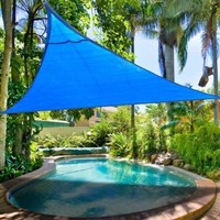 2nd Generation Sun Shade Sail Uv Top Outdoor Canopy Patio Lawn Triangle Blue, 12'x12'x12'