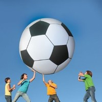 Gigantic 6-Feet Inflatable Jumbo Soccer Ball