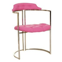 Pink Chrome Tufted Chairs | Pieces