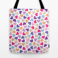 Hearts #5 Tote Bag by Ornaart