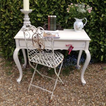 Stunning! Painted Vintage Antique French Style Shabby Chic Desk/Dressing Table