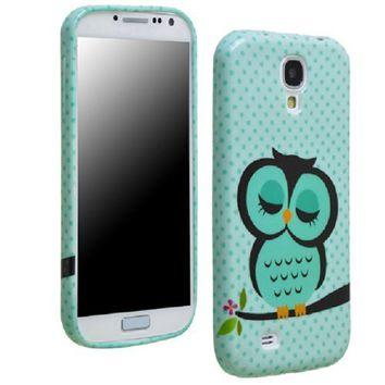 Sannysis Cute Owl Design Soft TPU Skin Case Cover for Samsung Galaxy S4 i9500 i9502