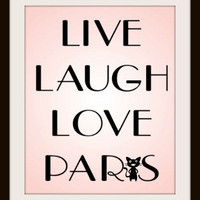 Paris Typography Art Print  Live Laugh Love Paris  A by MursBlanc