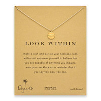 look within eye necklace, gold dipped