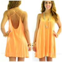 Bahama Babe Coral Swing Cami Dress