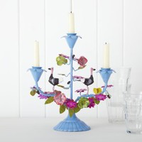 Blue Birdie Candelabra | Home Accessories | House & Home | House & Home | rigby & mac