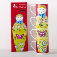 Four Russian Doll Stacking Mugs | Dining Accessories | House & Home | House & Home | rigby & mac