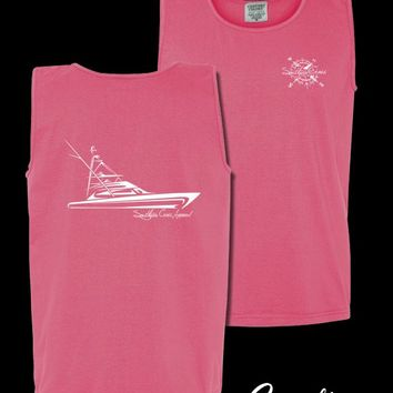 Southern Cross Apparel - Product Details | Tribal Sportfisher No Compass Tank | Tank | Comfort Cotton | Southern Cross Apparel