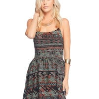 Aztec Back Tie Up Dress | Wet Seal
