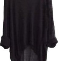 Women Oversized Batwing Outwear Loose Sweater Shirt Pullover Jumper Sleeve T