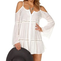ong Sleeve Cold Shoulder