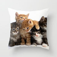 kitten Throw Pillow by Max Jones | Society6