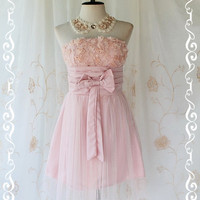 Princess Of The Night Cocktail Dress  Pink by LovelyMelodyClothing